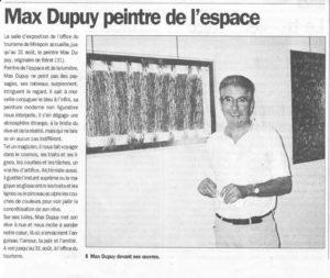 la dépêche du Midi Juillet 2001