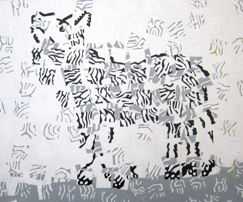 Canin noir et blanc
